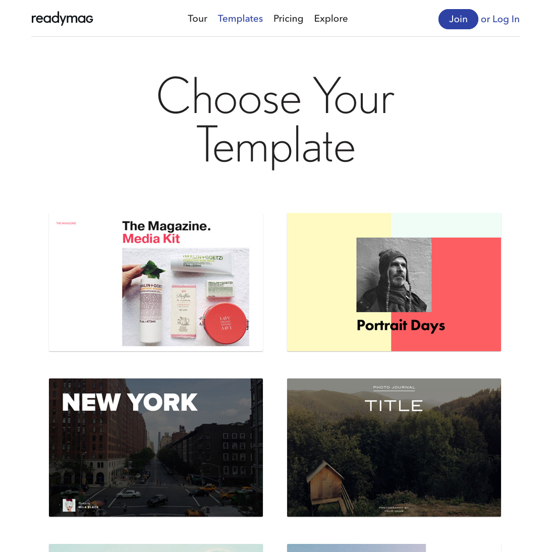Readymag • Templates