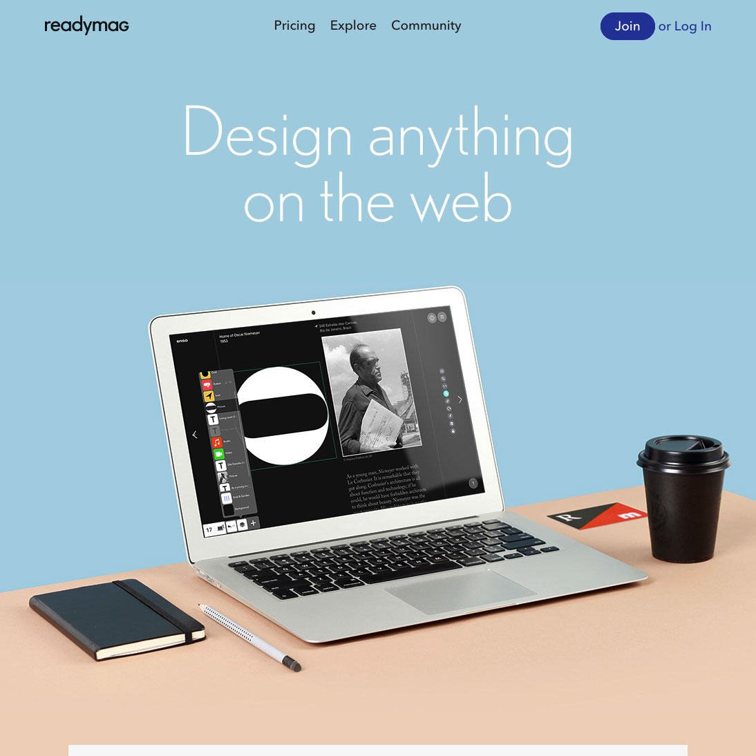 Readymag — Design anything on the web